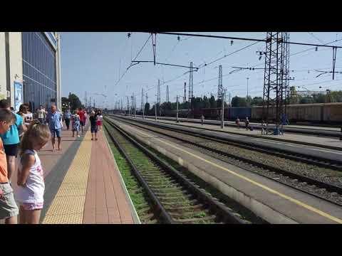 Прибытие поезда в Белгороде из Новосибирска