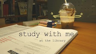 STUDY WITH ME Quiet Library (no music)