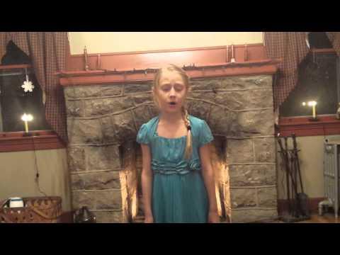 9 year old sings let it go from disney's frozen