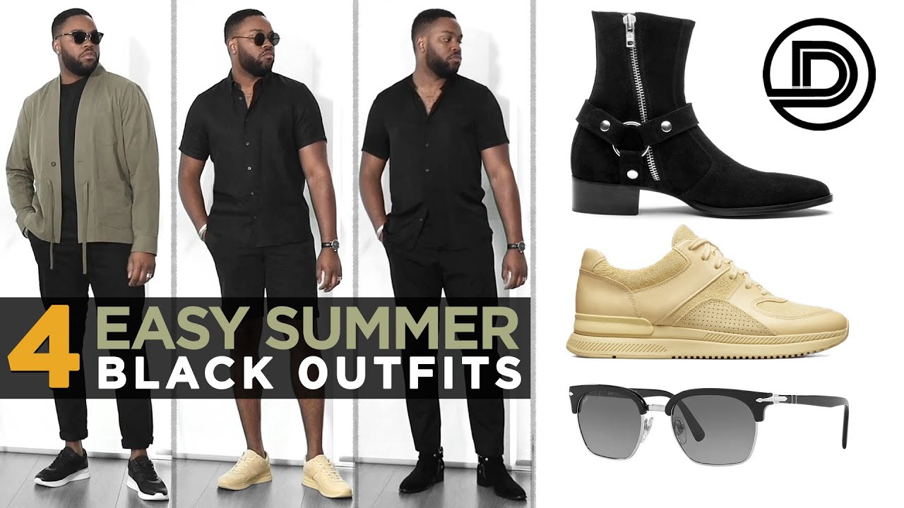 HOW TO WEAR BLACK IN THE SUMMER | Men's Outfit Inspiration (Smart-Casual)