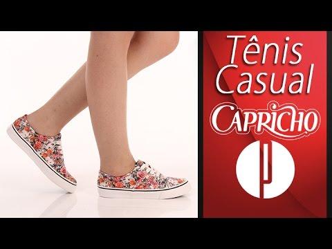 80a25382833 Tênis Casual Feminino Capricho Lanai Floral - 7240156461 - YouTube