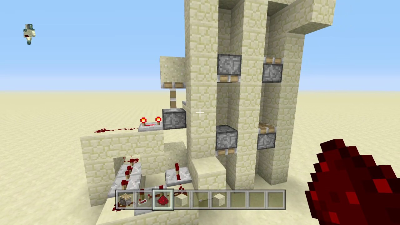 how to build a simple elevator in minecraft