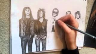 Black Veil Brides Drawing- time lapse pt2