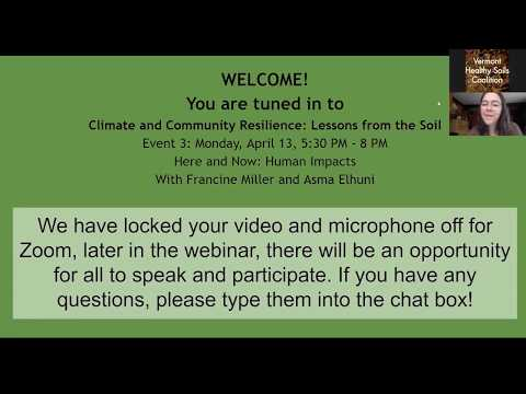 Climate And Community Resilience 2020 - Event 3