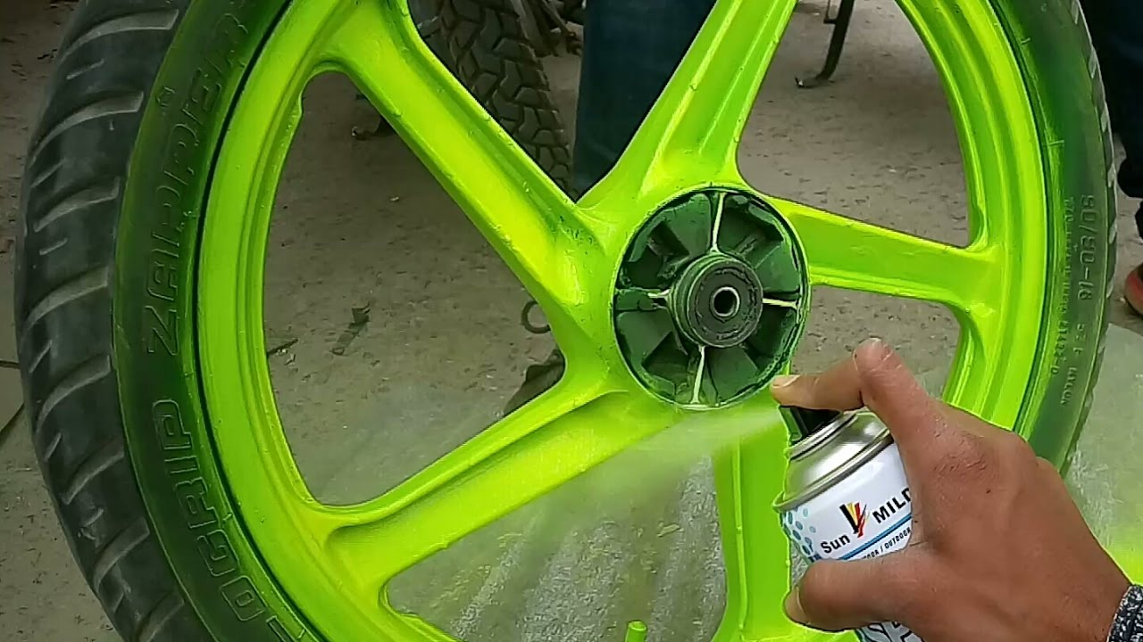How To Paint Bike Rim At Home Very Easy