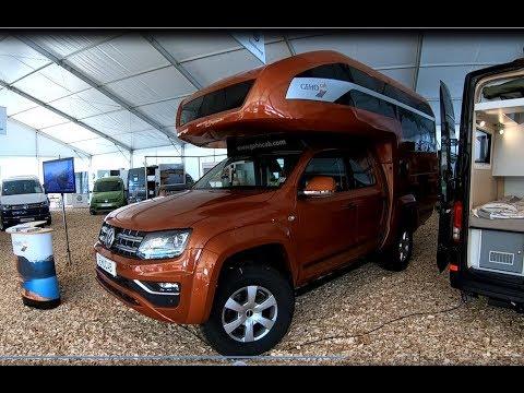 Volkswagen VW Amarok Canyon V6 new model Camper Kora Gehocab walkaround and interior