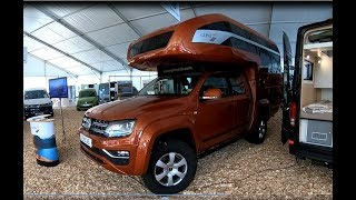 Volkswagen VW Amarok Canyon V6 new model Camper Kora Gehocab walkaround and interior