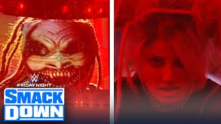 Alexa Bliss possessed by the Fiend during her match against Lacey Evans   FRIDAY NIGHT SMACKDOWN