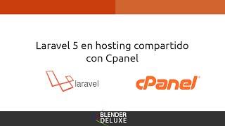 Subir Laravel 5 a hosting compartido Cpanel