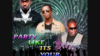 party like its your birthday-richie loop, busy signal & D-major