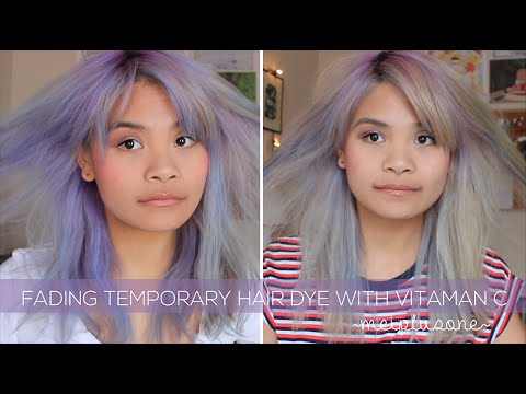 how to fade temporary hair dye with vitamin c tablets