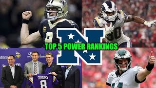 Eagles Still On Top??? NFC Conference Top 5 Power Rankings!!! Cobra Kai Membership Is Open!!!