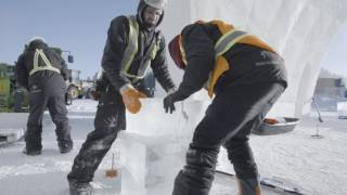 Construction Hotel de Glace - Quebec City- Canada