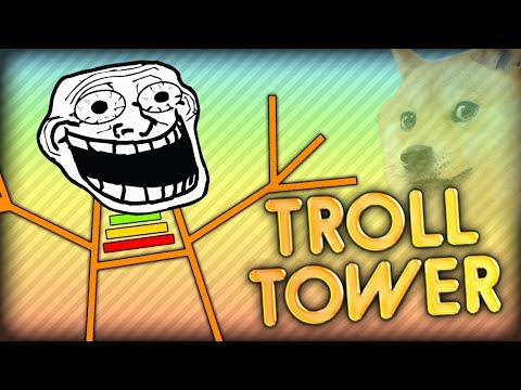 THE TROLL TOWER CHALLENGE - How Long Can I TROLL? Minecraft Trapdoor Tower