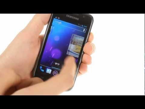 Samsung Galaxy S running Android 4.0 Ice Cream Sandwich