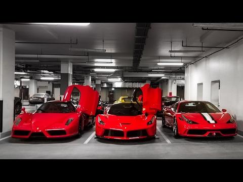 Visiting a Ferrari Collection in Dubai