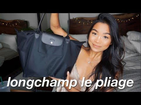 WHAT'S IN MY WORK BAG?! (7AM-6PM WORK DAY)   LONGCHAMP LARGE LE PLIAGE NEO