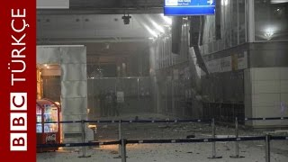 Saldırının hemen sonrası Atatürk Havalimanı içinden görüntüler - BBC TÜRKÇE