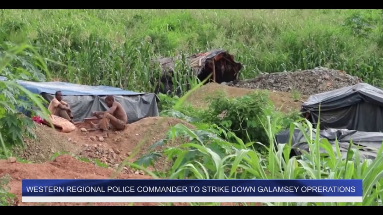 Western Regional Police Chief Strike to Combat Galamsey
