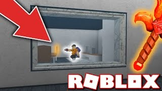 HOW TO GLITCH YOUR KNIFE THROUGH THE WALL!! (Murder Mystery 2 | Roblox)