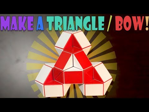 How To Solve Rubik's Snake Cube Puzzle Into A Triangle Or Bow (Simple Thourough Tutorial, Beginner)