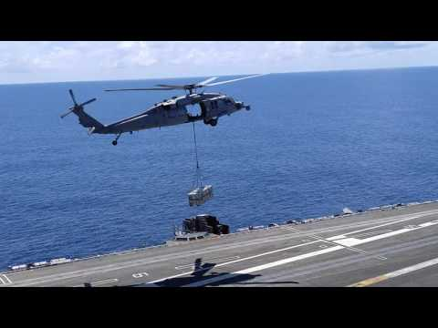 Taking on ammunition aboard GHWB