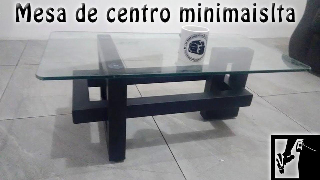 Mesa de centro minimalista youtube for Mesas de centro pequenas