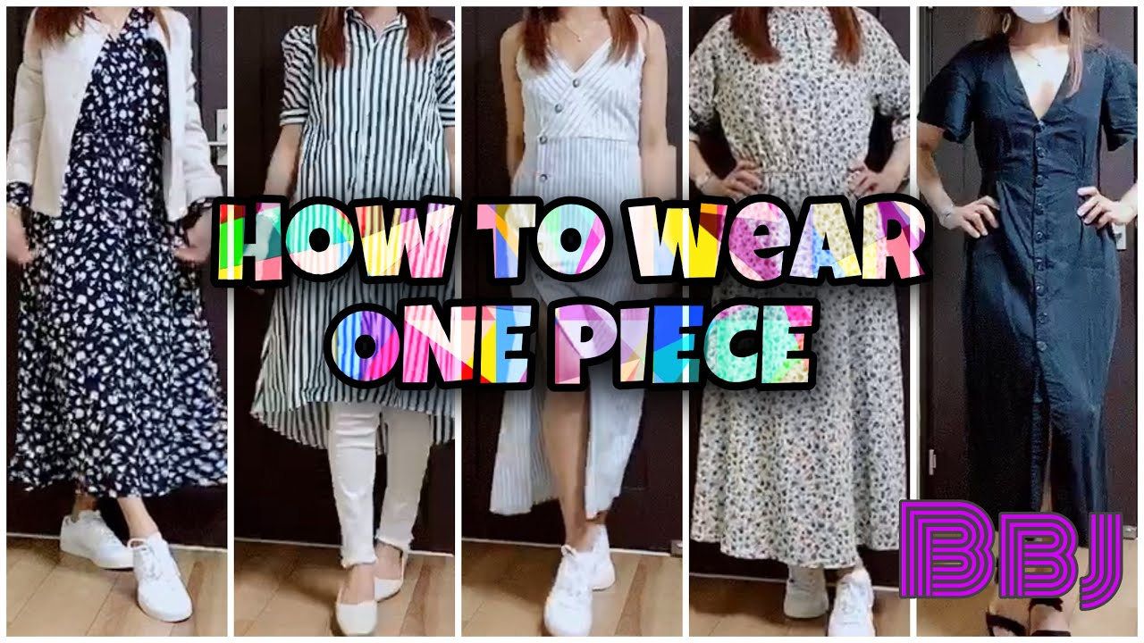 How To Wear ONE PIECE/good for mother's,nanay lalo na sa may mga anak na maliliit.(MY IDEAS)