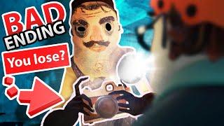 UNLOCKED SECRET BAD ENDING in HELLO NEIGHBOR 2!!?! (Super Creepy) | Hello Neighbor 2 Alpha