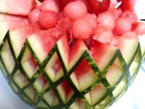 Decoraciones centros de mesa en tallado de frutas y - Decoracion de frutas ...