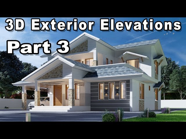 Beautiful Home Elevation Designs In 3d Kerala Home Home Decorating