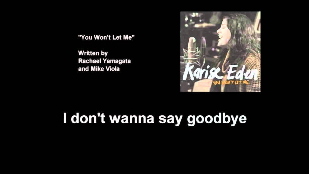 Lyric brand new you won t know lyrics : Karise Eden - You Won't Let Me (Lyric Video) - YouTube
