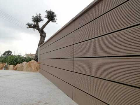Cheap And Durable Composite Wood Fence Youtube