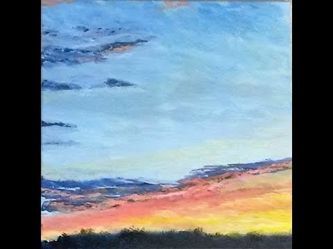 Pastel Sunset – Acrylic Landscape Painting Lesson – Free, Full Length