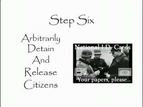 The 10 Steps To Totalitarianism June 2016 | Re. The Club Of Rome Influence Over Australia
