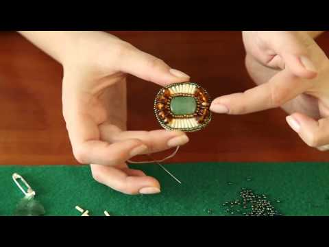 Как сделать брошку из бисера своими руками