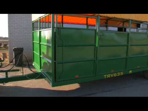 Livestock trailer for Horses, Cattle, Cows, Sheep, Pigs- adaptable for other animals