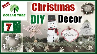 DOLLAR TREE CHRISTMAS DIY Decor 2019 | 7 Christmas DIYs + NEW Dollar Tree Christmas Shop With Me