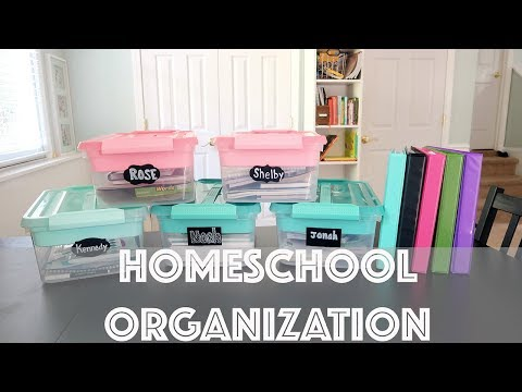 Homeschool Organization for 5 kids!