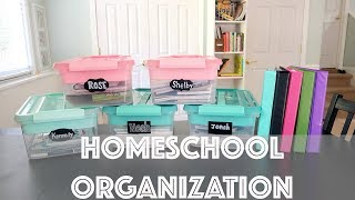 Homeschool Organization for 5 kids!