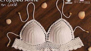 Cropped de Crochê Anne - Tamanho Único  - Professora Simone