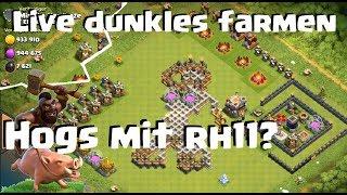 [391] Hogs jetzt in rh10 und 11? Live dunkles farmen mit Clanspielen | Clash of Clans Deutsch COC