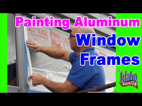 How To Paint Metal Or Aluminum Windows Painting Aluminum Windows