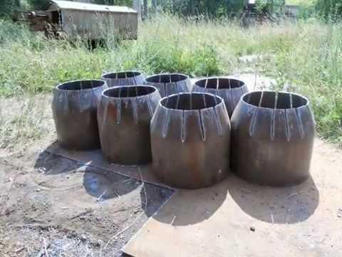 Изготовление стального перехода большого диаметра