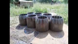 Изготовление стального перехода большого диаметра(Как изготовить стальной концентрический переход с одной трубы на другую. В данном видео переход с 426х325мм., 2014-07-08T06:10:55.000Z)