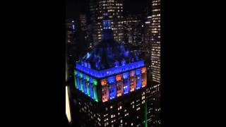 Helmsley Building light show 1-27-2014
