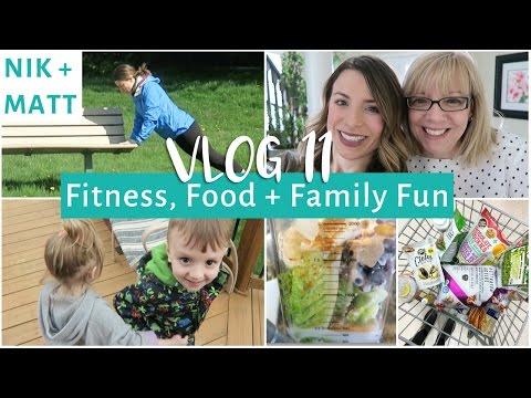 Morning Fitness Routine, Taste Test & Family BBQ    NIK + MATT VLOG 11
