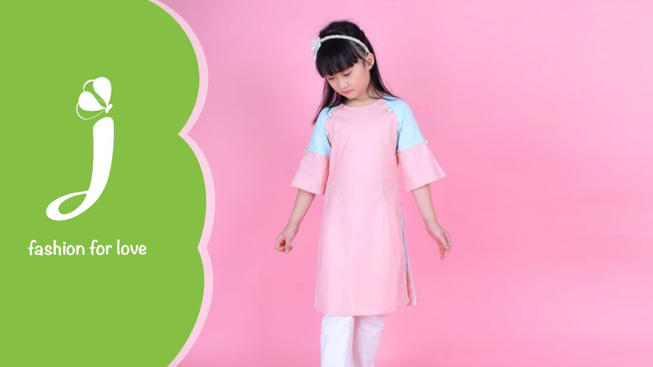 Áo dài trẻ em gái ADG016 Jadiny