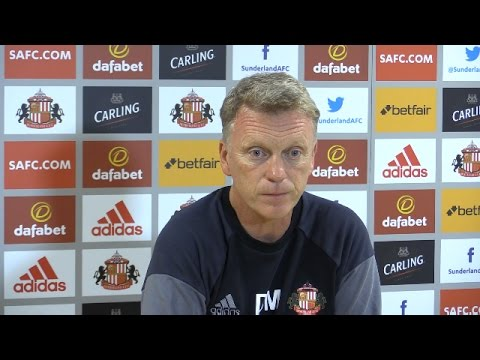 Press Conference With Sunderland Manager David Moyes - Man City v Sunderland
