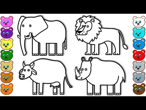 Pictures of zoo animals to colour in